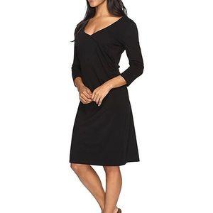 Royal Robbins wrap black dress L